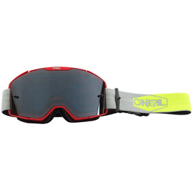 O'Neal B-20 Maschera Plain, red/neon yellow-gray